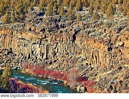 Deep In The Chasm - A February View In The Deschutes River Canyon - West Of Terrebonne, Or