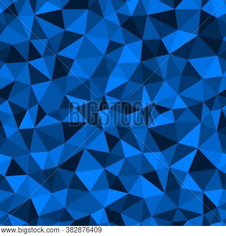 Abstract Multicolor Sapphire Blue Background. Vector Polygonal Design