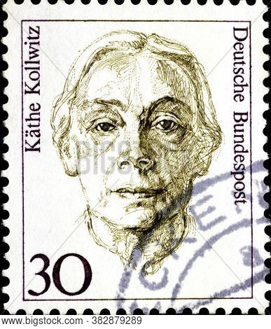 02 11 2020 Divnoe Stavropol Territory Russia The Postage Stamp Germany 1991 Famous Women Kathe Kollw
