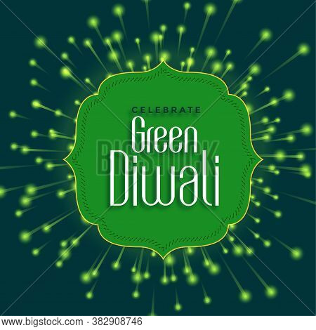 Happy Green Diwali Concept With Eco Friendly Firework