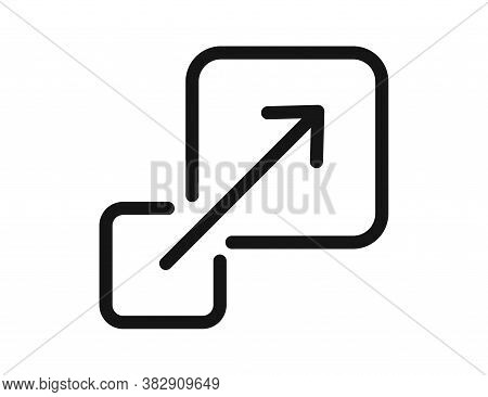 Scalable Vector Isolated Icon On White Background.