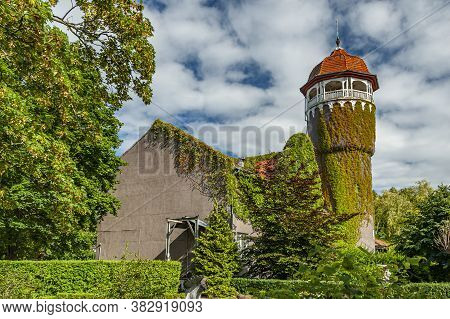 Water Tower Built In 1908 Is An Architectural Landmark Of The Spa Town Svetlogorsk On Baltic Sea