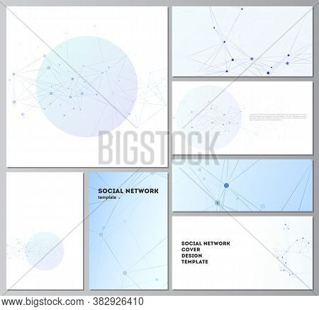 Vector Layouts Of Social Network Mockups In Popular Formats For Cover Design, Website Design, Websit
