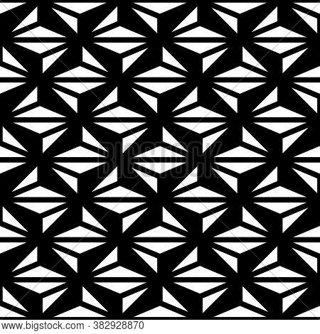 Seamless Surface Pattern Design With Modern Ornament. Jagged Triangles Background. Image With Repeat