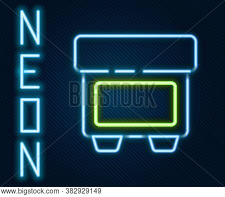 Glowing Neon Line Fuse Of Electrical Protection Component Icon Isolated On Black Background. Melting