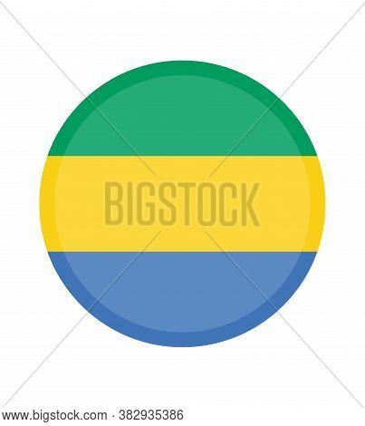National Gabon Flag ,official Colors And Proportion Correctly. National Gabon Flag.