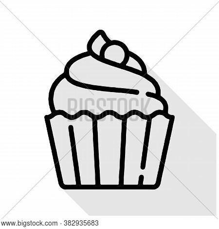 Cupcake Vector Icon. Cupcake Editable Stroke. Cupcake Linear Symbol For Use On Web And Mobile Apps,