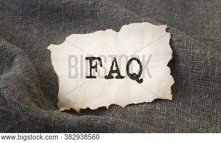 Word Inscription Text Acronym Faq, Frequently Asked Questions, Ecology Concept
