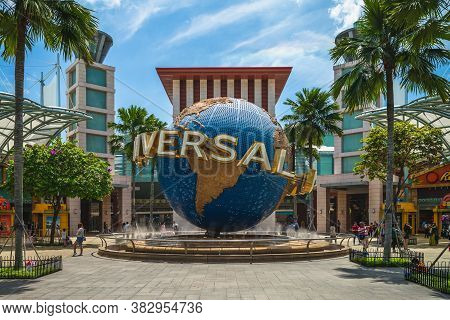February 5, 2020: Universal Studios Singapore, A Theme Park Located Within Resorts World Sentosa In