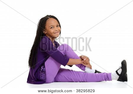 happy african child sitting