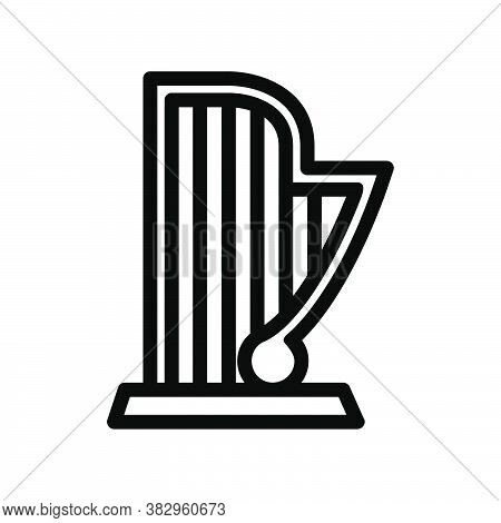 Logo Or Symbol Of Harp Icon With Black Line Style