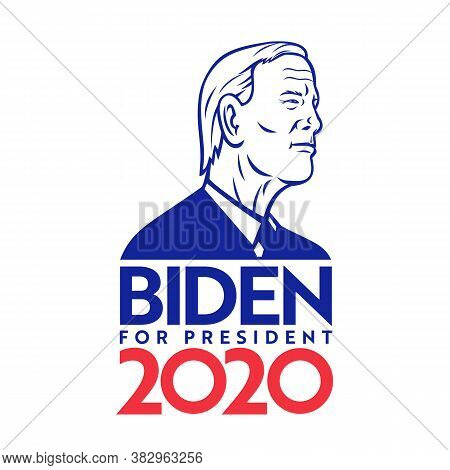 Aug 30, 2020, Auckland, New Zealand: Illustration Of American Former Vice President And Presidential