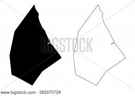 St. Andrew (barbados, Parishes Of Barbados) Map Vector Illustration, Scribble Sketch Parish Of Saint