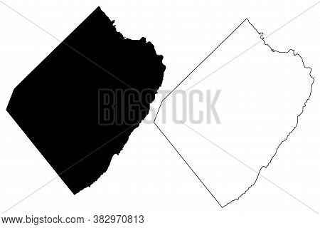 St. Philip (barbados, Parishes Of Barbados) Map Vector Illustration, Scribble Sketch Parish Of Saint