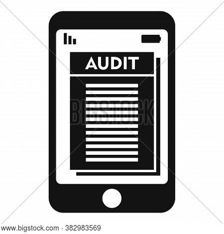 Smartphone Audit Icon. Simple Illustration Of Smartphone Audit Vector Icon For Web Design Isolated O