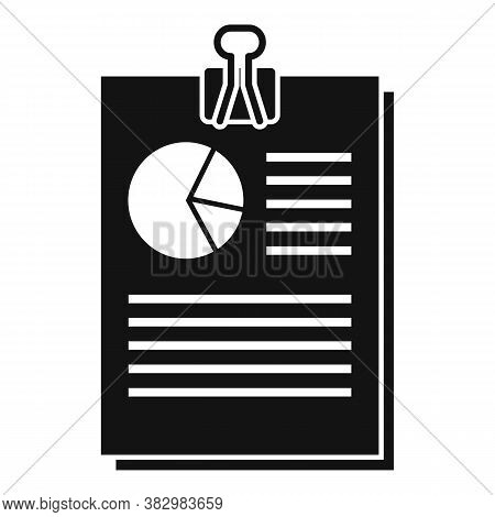Audit Pie Chart Icon. Simple Illustration Of Audit Pie Chart Vector Icon For Web Design Isolated On