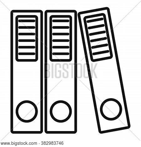 Audit Folder Icon. Outline Audit Folder Vector Icon For Web Design Isolated On White Background