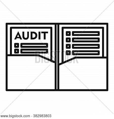 Audit Documents Icon. Outline Audit Documents Vector Icon For Web Design Isolated On White Backgroun