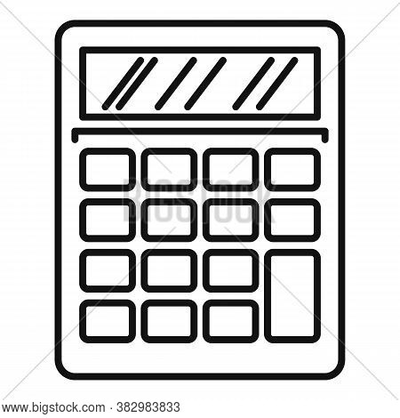 Audit Calculator Icon. Outline Audit Calculator Vector Icon For Web Design Isolated On White Backgro