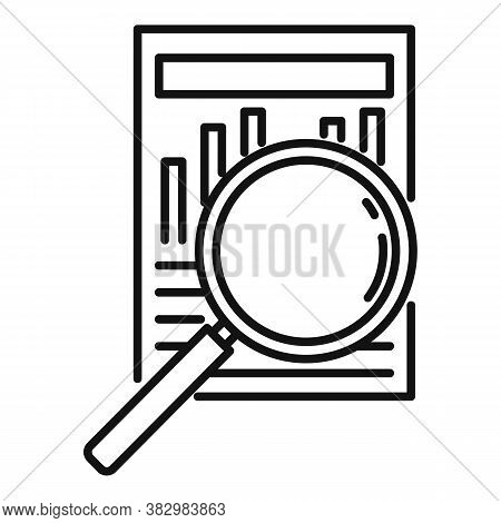 Search Audit Info Icon. Outline Search Audit Info Vector Icon For Web Design Isolated On White Backg