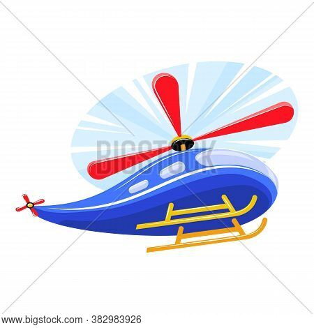 Rc Toy Helicopter Icon. Cartoon Of Rc Toy Helicopter Vector Icon For Web Design Isolated On White Ba