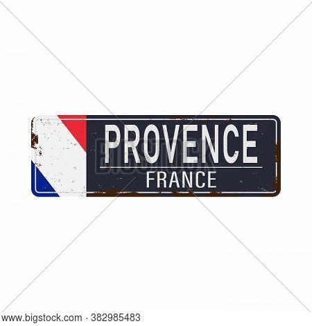 Provence-alpes Cote Dazur, France Vector Icon Design