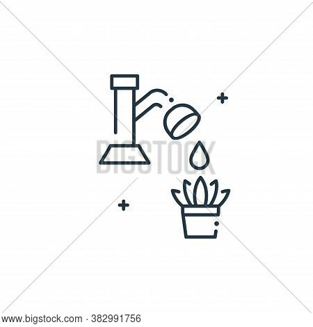 watering icon isolated on white background from mother earth day collection. watering icon trendy an