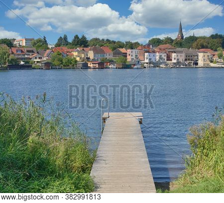 Village Of Malchow Called Inselstadt,,mecklenburg Lake District,germany