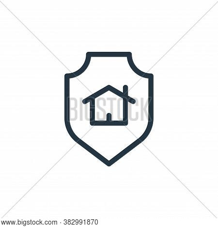 home security icon isolated on white background from smarthome collection. home security icon trendy