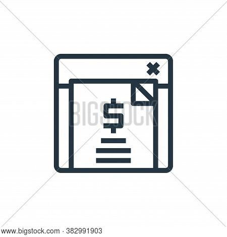 bill icon isolated on white background from business money and communication collection. bill icon t
