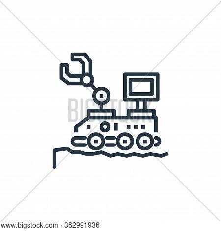 rover icon isolated on white background from space collection. rover icon trendy and modern rover sy