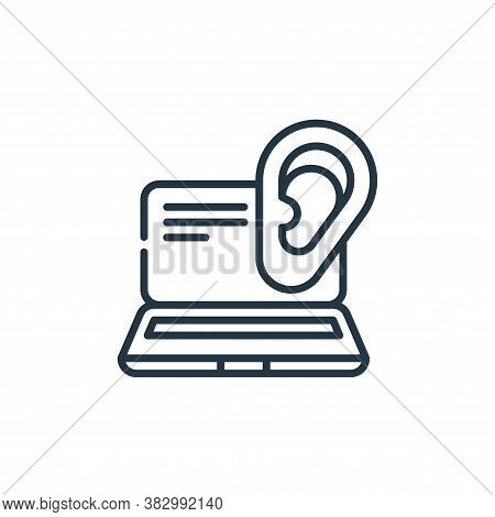 ear icon isolated on white background from cyber security collection. ear icon trendy and modern ear