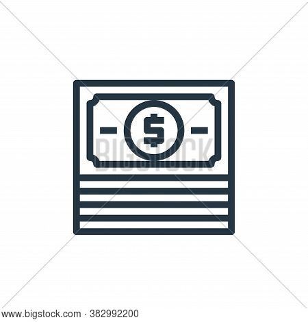 banking icon isolated on white background from business money and communication collection. banking