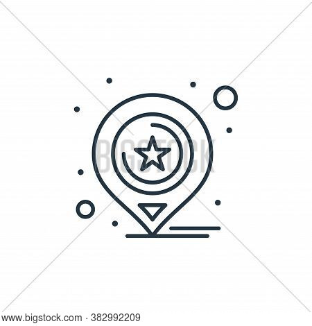 location icon isolated on white background from digital marketing collection. location icon trendy a