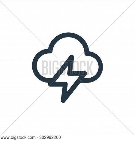 cloud icon isolated on white background from user interface collection. cloud icon trendy and modern