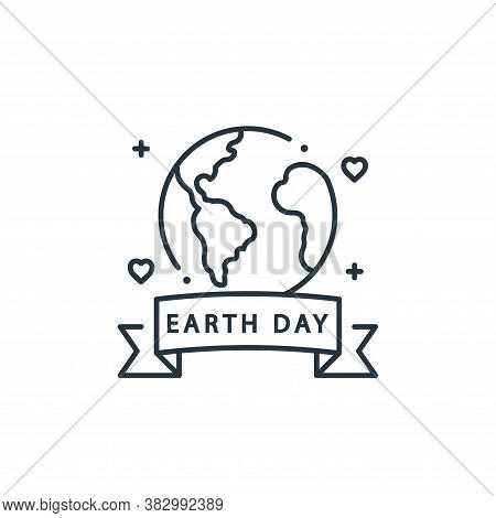earth day icon isolated on white background from mother earth day collection. earth day icon trendy