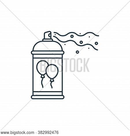 spray icon isolated on white background from birthday party collection. spray icon trendy and modern
