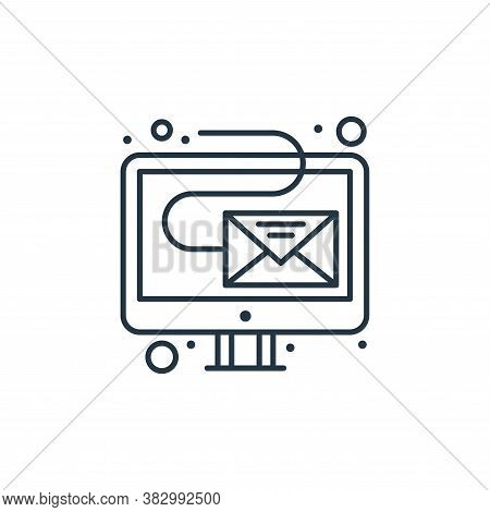 email icon isolated on white background from digital marketing collection. email icon trendy and mod