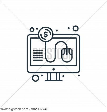 pay per click icon isolated on white background from digital marketing collection. pay per click ico