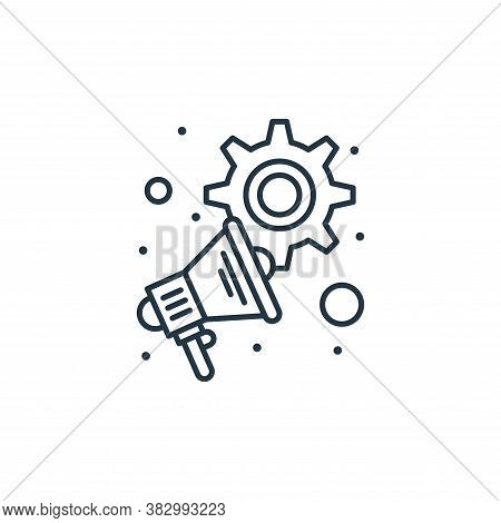 advertising icon isolated on white background from digital marketing collection. advertising icon tr