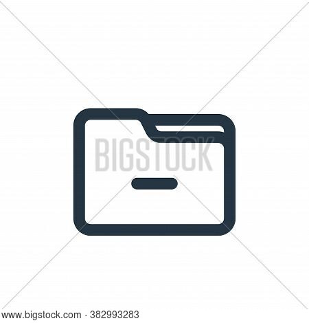 delete folder icon isolated on white background from file and folder collection. delete folder icon