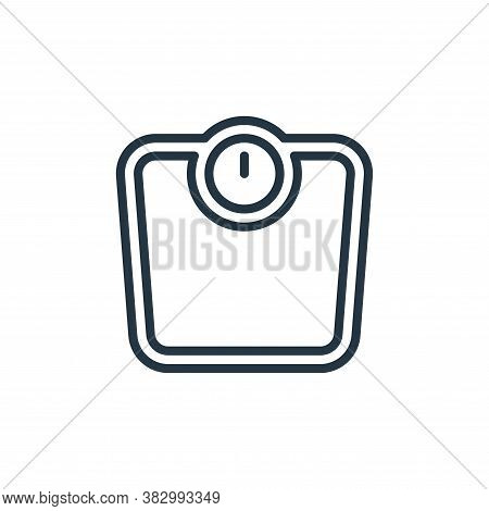 scale icon isolated on white background from bathroom accessories collection. scale icon trendy and