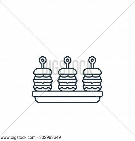 hamburgers icon isolated on white background from birthday party collection. hamburgers icon trendy