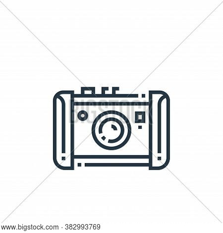 photo camera icon isolated on white background from photography collection. photo camera icon trendy