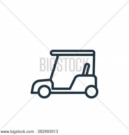 golf cart icon isolated on white background from vehicles collection. golf cart icon trendy and mode