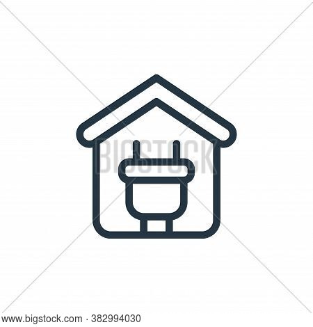 plug icon isolated on white background from smarthome collection. plug icon trendy and modern plug s