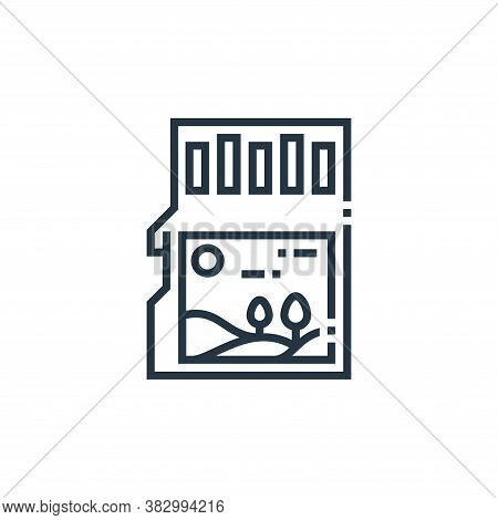 memory card icon isolated on white background from photography collection. memory card icon trendy a