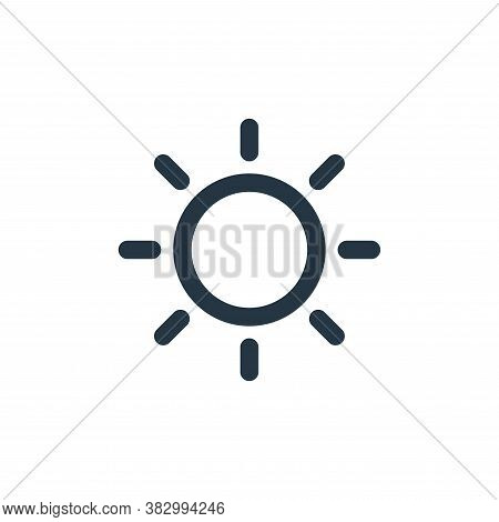 sun icon isolated on white background from technology collection. sun icon trendy and modern sun sym