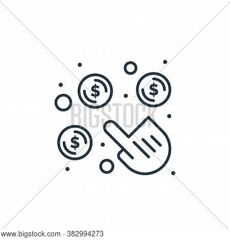 click per pay icon isolated on white background from digital marketing collection. click per pay ico