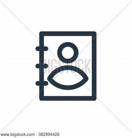 address book icon isolated on white background from user interface collection. address book icon tre
